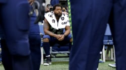 Seahawks' Michael Bennett sits during national anthem after Charlottesville violence