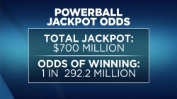 $700 million up for grabs in Wednesday's Powerball drawing