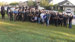 100 police escort son of slain officer to first day of kindergarten