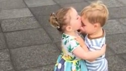 See 2 toddlers share a smooch: Funny viral videos for parents