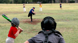 In 'unorganized baseball' games, kids play by their own rules