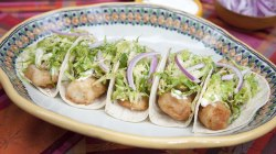 Make tacos 3 ways: Cola-braised pork, Baja fish, potato and peppers