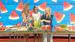 Learn how to juice a watermelon in seconds flat