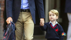 Britain's Prince George Celebrates First Day of School