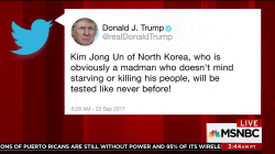 In tweet, Trump says Jong Un 'obviously a madman'