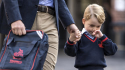 Prince George Arrives for First Day of School
