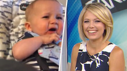 Dylan Dreyer's baby Calvin tries seltzer for the first time