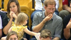Cute Toddler Steals Prince Harry's Popcorn