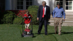Kid Landscaper Mows White House Lawn, Meets Trump