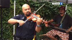 Police appear at Wisconsin sports bar (to play fiddle)