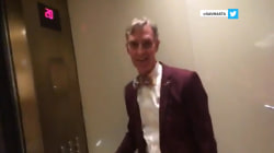 Bill Nye interrupts girls' Snapchat session in Vegas elevator