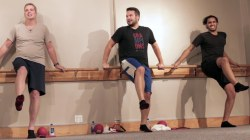 Could men survive a barre class? We challenged 3 dudes to give it a try