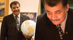 See Neil deGrasse Tyson show off cool, 'random' stuff around his office
