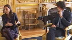 French President's Meeting Interrupted by Dog Taking a Leak
