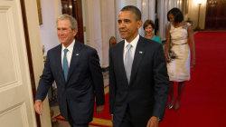 Obama and Bush lay into Trumpian politics