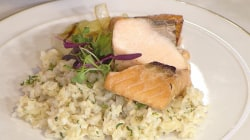 Make ginger salmon and coconut rice for a healthy weeknight dinner