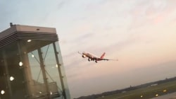 Caught on camera: Air Berlin pilots suspended for risky farewell  fly-by