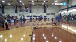 Watch high school volleyball player's incredible save