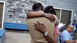 Watch this Marine surprise his mom at family reunion
