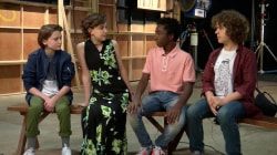 Sheinelle Jones visits the cast of the Netflix hit 'Stranger Things'