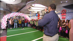 Football player Devon Still completes the final pass to tackle cancer