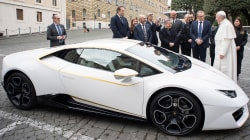 Not the new popemobile: Francis gets a Lamborghini
