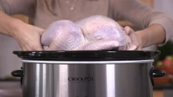 How to make a whole Thanksgiving turkey in a slow cooker