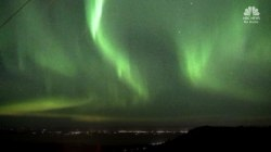 Watch As Northern Lights Light Up Sky