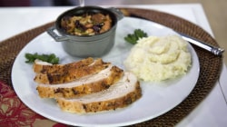 Trim Before Turkey: Healthy Thanksgiving plates, 30-second squat challenge