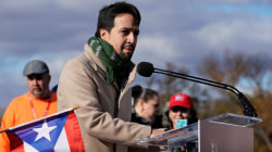 Thousands, joined by Lin-Manuel Miranda, march for aid for Puerto Rico