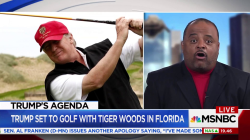 President Trump golfs with Tiger Woods and blasts NFL protests