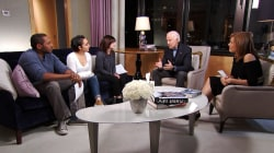 Former Vice President Joe Biden visits with cancer survivors