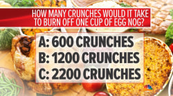 Learn how much exercise you'd need to burn off holiday treats