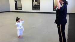 Watch this adorable 3-year-old girl recite taekwondo creed