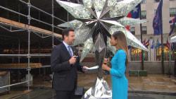Actress Naomie Harris introduces Rockefeller Center Christmas tree star