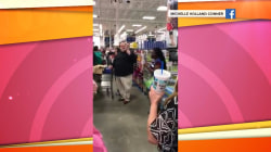 Watch this holiday shopper play a church hymn in middle of store