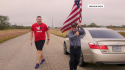 American flag travels 4,600 miles in 10,000-person relay across the country