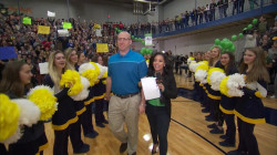 Watch a deserving teacher get surprised by his whole school live on TODAY