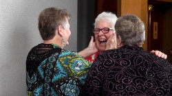 Three sisters meet for the first time after seven decades apart
