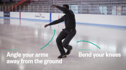 The better way to fall on ice