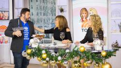 Chef Adam Richman brings Kathie Lee and Hoda latkes for Hanukkah