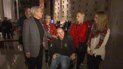 Wounded Iraq War vet and his family make solemn visit to 9-11 Memorial and Museum