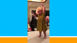 Watch this toddler's epic water bottle flip