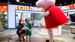 Watch Savannah Guthrie's daughter Vale hug her idol, Peppa Pig