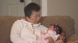 Grandma with Alzheimer's delights in re-meeting her baby granddaughter