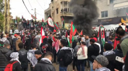 Protests erupt outside US Embassy in Lebanon