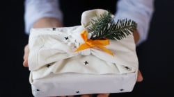 This paper-free wrapping hack is adorable AND eco friendly