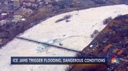 Ice jams trigger flooding, dangerous conditions
