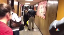 Louisiana teacher removed from meeting in handcuffs