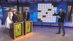 Hoda and Keir tackle winter trivia playing Crosswords With Friends